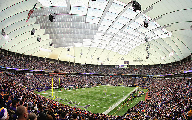 The Vikings have one game left before their lease at the 30-year-old Metrodome expires. (Getty Images)