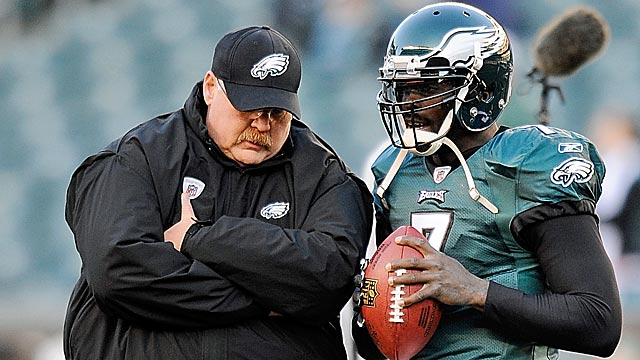 Neither Andy Reid nor Michael Vick produced the type of season demanding Philly expected. (Getty Images)