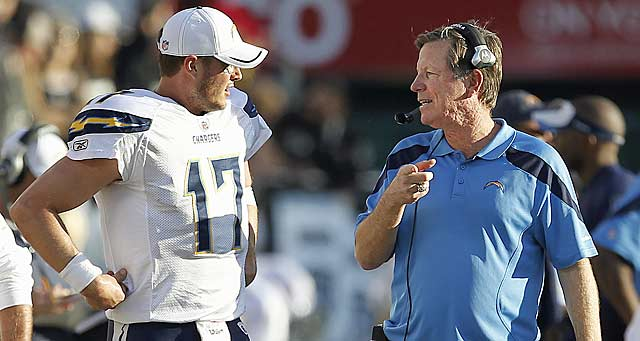Thanks to Philip Rivers' support, Norv Turner will get to work for a sixth season with him. (AP)