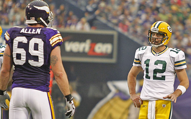 Jared Allen makes his fourth All-Pro team; MVP candidate Aaron Rodgers gets his first nod. (US Presswire)