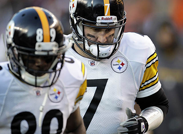 Roethlisberger was one tough SOB in Denver, driving the Steelers into OT on a bum ankle. (AP)