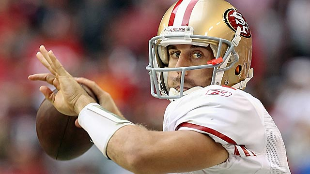 Alex Smith has often been subject to 'he manages the game' faint praise. (Getty Images)
