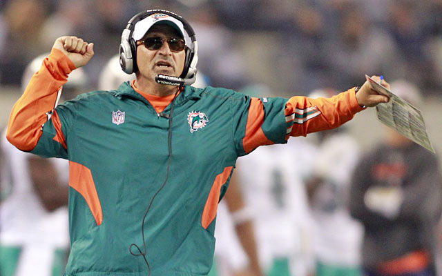 Fired 13 games into his fourth season in Miami, Tony Sparano went 29-32 as Dolphins coach. (US Presswire)