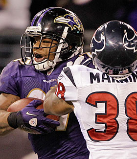 The Texans couldn't stop Ray Rice from racking up 161 total yards in their October meeting. (Getty Images)