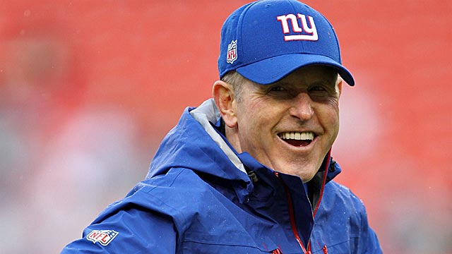 Long known as a stern tyrant, Tom Coughlin finds more to smile about these days. (US Presswire)