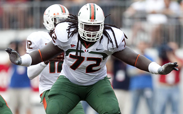 Miami's Brandon Washington is one of two juniors participating in the NFLPA game. (US Presswire)