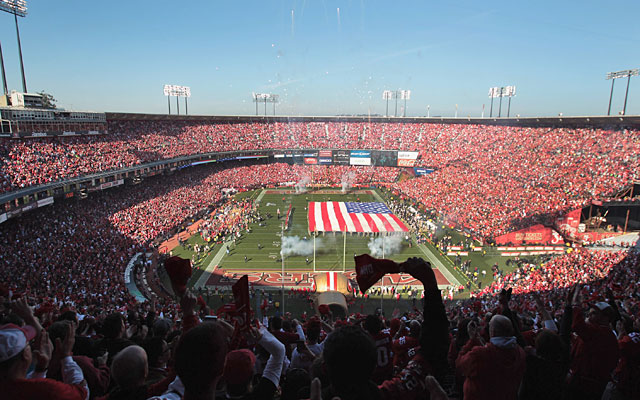 Forget last week; Candlestick will not allow brilliant sunshine and warm temps this Sunday. (Getty Images)