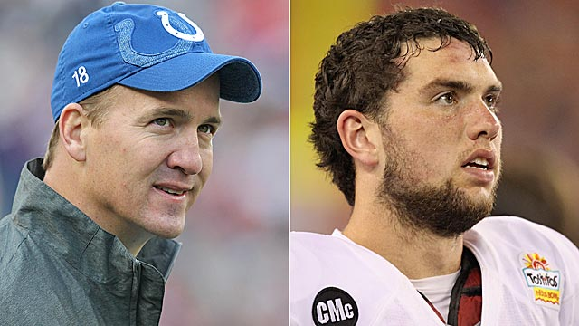 The Manning situation remains unresolved, but it's nearly certain Indy will draft Luck. (Getty Images)