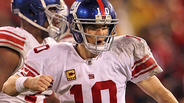 Tom Brady might be the greatest ever, but Eli Manning is the hotter QB entering the Super Bowl. (Getty Images)