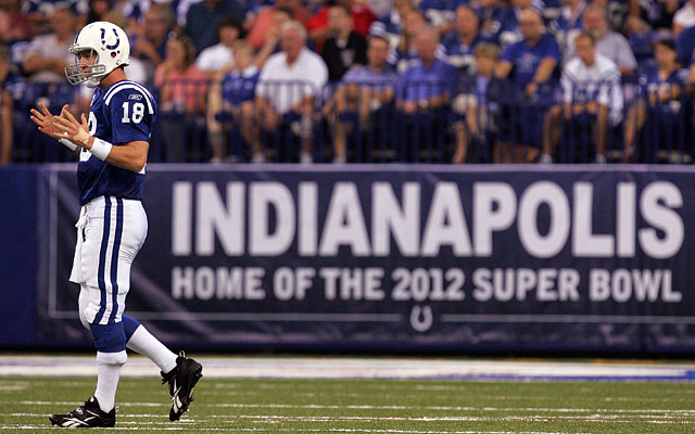 Without Peyton Manning, the Colts don't get a new stadium, Indy doesn't land the Super Bowl. (Getty Images)