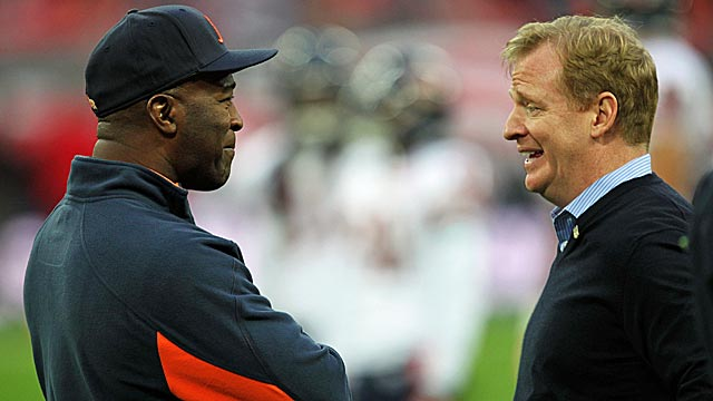 Bucs-Bears in October is one thing, Lovie Smith and Roger Goodell, but a Super Bowl? (Getty Images)