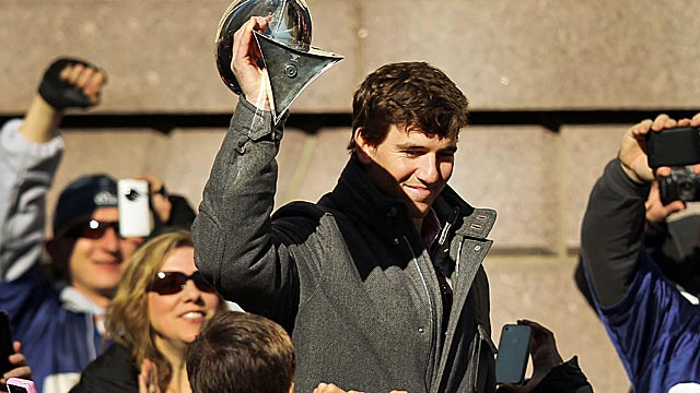 Eli hasn't always been appreciated in New York, but two titles change a lot of things. (Getty Images)