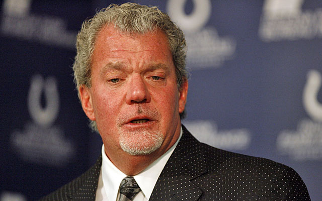 Jim Irsay has taken control of the perception battle away from Peyton Manning. (US Presswire)