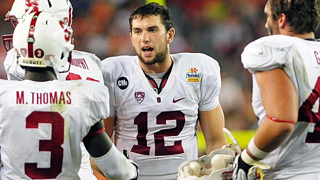 Andrew Luck gets almost unprecedented level of approval from scouts. (US Presswire)