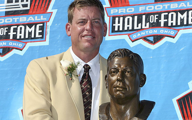 Troy Aikman, whose Hall of Fame career was ended by concussions, questions the NFL's future. (Getty Images)