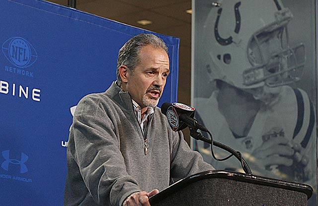 If new Colts coach Chuck Pagano knows if Peyton Manning is sticking around, he isn't telling. (US Presswire)