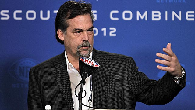 New coach Jeff Fisher should wind up with lots of new talent if the Rams deal No. 2 as expected. (AP)