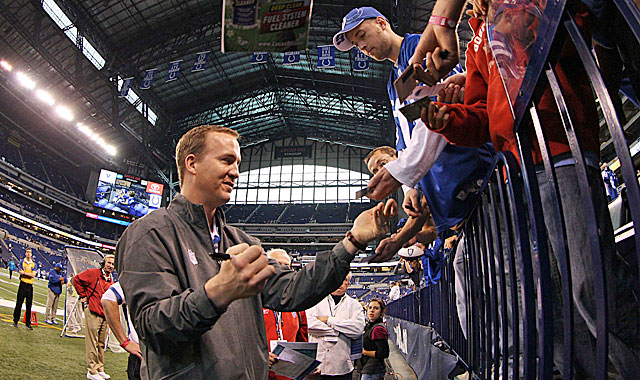 Where will Manning be signing autographs for fans next season? (US Presswire)