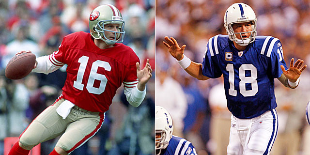 Montana was everything to the Niners that Manning was to Colts -- and more. (US Presswire)