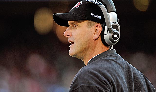 Jim Harbaugh quickly turned around the Niners in his first season. (Getty Images)