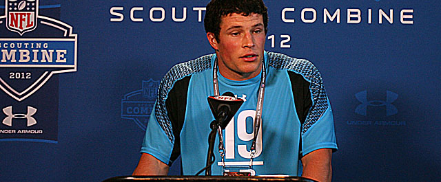 Once seen as an overachiever, Kuechly showed at the combine he can be a legit performer. (US Presswire)