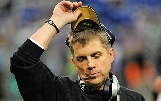 Arrogant, high-flying Sean Payton is brought back to earth by the NFL. (Getty Images)