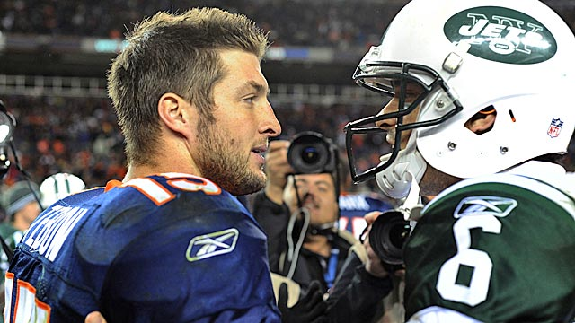 Tebow won't officially be introduced as a Jet until Monday (Getty Images)