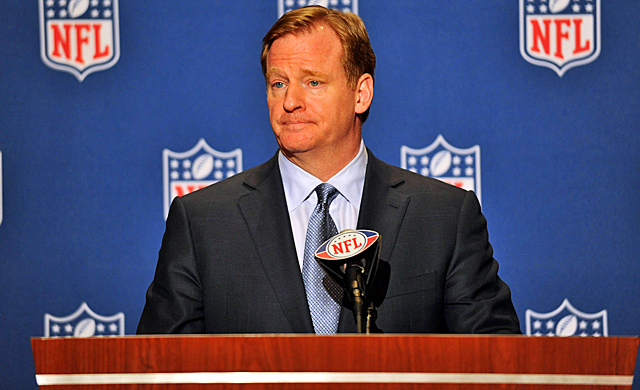 """Goodell: """"We have made player health and safety very clear as a priority."""" (US Presswire)"""
