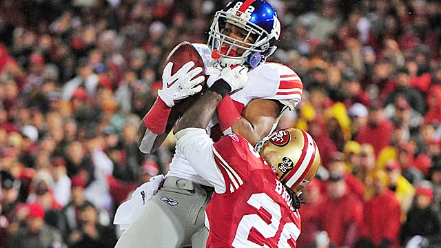 The Niners signed Mario Manningham to help stretch the field, but he's more of a No. 3 receiver. (US Presswire)