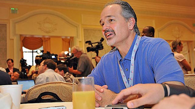 The Colts' Chuck Pagano says it's a challenge finding corners who can cover today's larger WRs. (US Presswire)