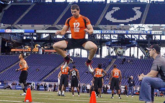 Luck's visit to Indy for the combine won't be the last time he performs in the Colts' stadium. (US Presswire)