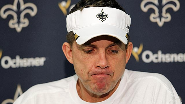Sean Payton deserved his suspension but didn't exactly get due process. (AP)