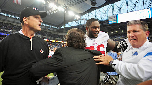 Jim Harbaugh and Jim Schwartz made last year's meeting memorable. What will happen in '12? (US Presswire)
