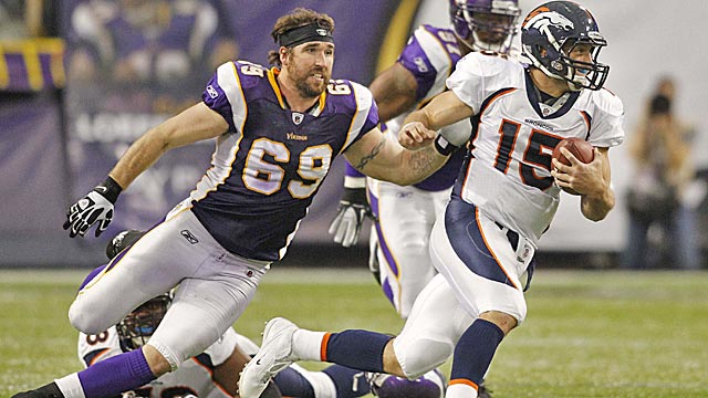 Jared Allen is a special player, but there isn't much talent around him on a 21st-ranked defense. (US Presswire)