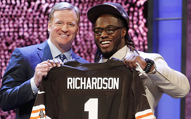 No. 3 overall pick Trent Richardson on his college coach: 'He prepares you for this.' (AP)