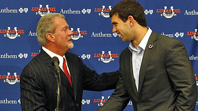 Colts owner Jim Irsay has placed his franchise in the hands of No. 1 overall pick Andrew Luck. (US Presswire)