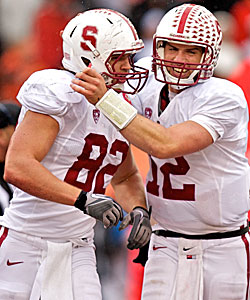 Reunited: From the Cardinal to the Colts, Fleener and Luck. (AP)