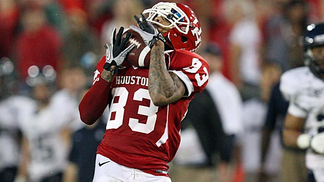 Houston receiver Patrick Edwards caught 43 career touchdowns passes. (US Presswire)
