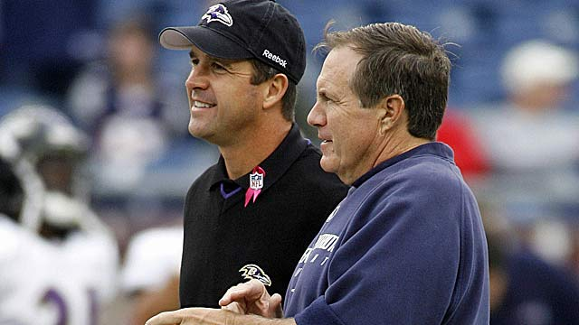 John Harbaugh was recommended to the Ravens by Bill Belichick. (US Presswire)