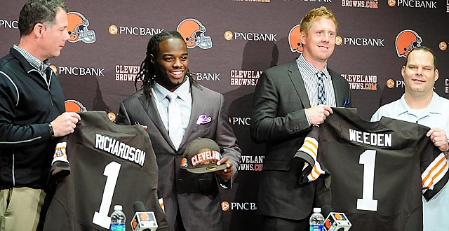 Count on Trent Richardson and Brandon Weeden starting for Cleveland vs. Philadelphia on Sept. 9. (US Presswire)