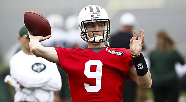 After college stints at Louisville, El Camino, and Tennessee, Matt Simms is in Jets camp. (Getty Images)