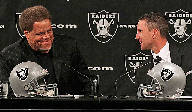 McKenzie brings in Dennis Allen as his coach, going outside the Raiders' 'family.' (Getty Images)