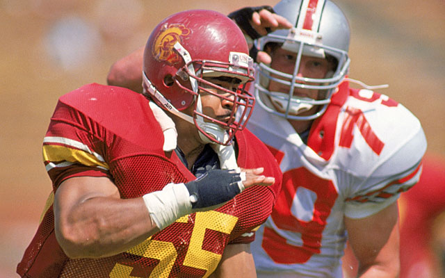 Like many others long forgotten, Junior Seau began punishing his body playing college football. (Getty Images)