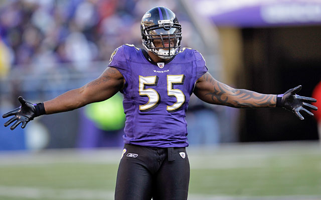 Terrell Suggs would be in the top 20 if he wasn't in danger of missing the 2012 season. (Getty Images)