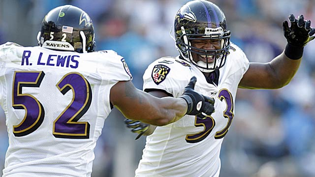 With various partners, Ray Lewis has helped keep the Ravens' triangle stout. (US Presswire)