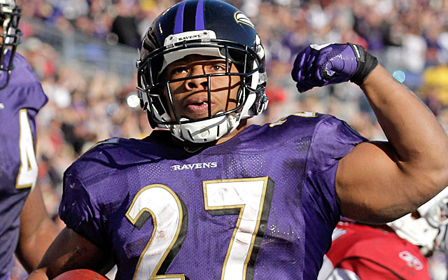 Ray Rice might have to settle for two years of franchise tags from the Ravens. (Getty Images)