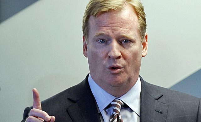 Roger Goodell's disciplinary powers are being challenged by the NFLPA. (AP)