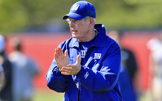 Tom Coughlin oversaw last month's minicamp as he got ready for his ninth season as Giants coach. (AP)