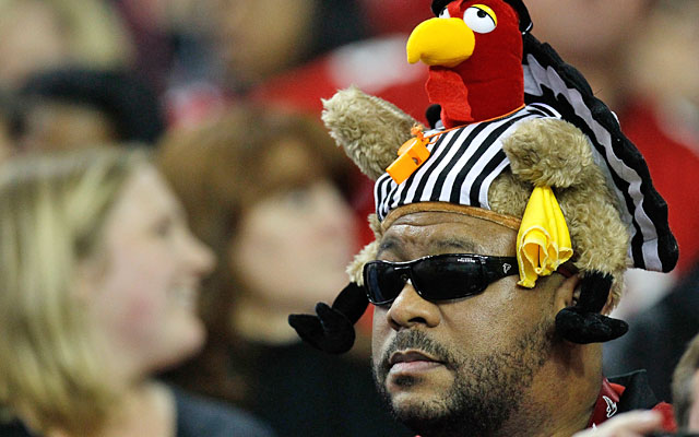 To some anonymous NFL players, officials are nothing more than turkeys in striped shirts. (Getty Images)