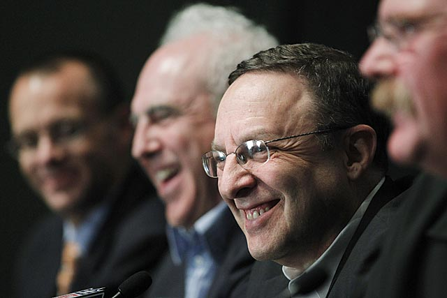There were no fake smiles in this conference: Joe Banner is leaving on his own terms. (AP)